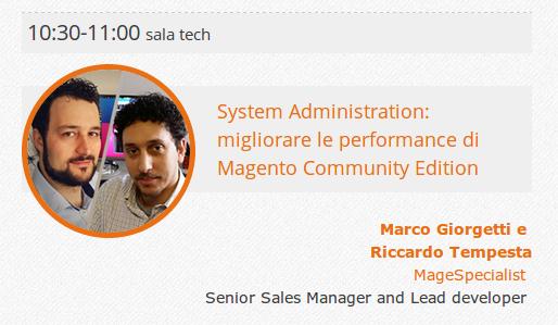 Slide del nostro intervento al Meet Magento Italy
