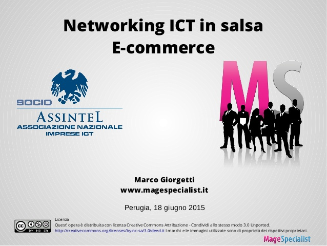 Slide dell'incontro Networking ICT in salsa E-commerce